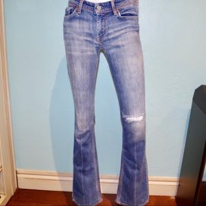 7 FOR ALL MANKIND Ripped Bootcut Jeans